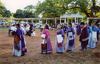 Caddo - Caddo turkey dance, Caddo National Complex, Binger, Oklahoma, 2000: The turkey dance relays Caddo history.
