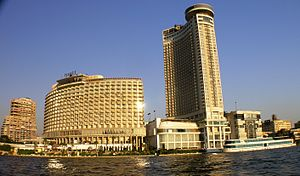 Cairo - Garden City - Hyatt from the Nile.JPG
