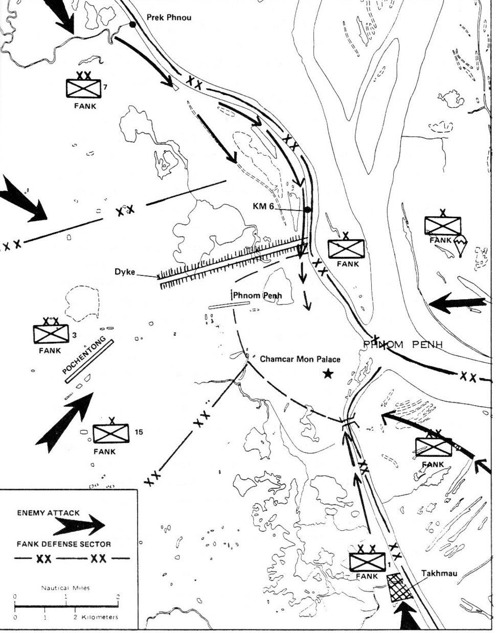 Cambodian Civil War map