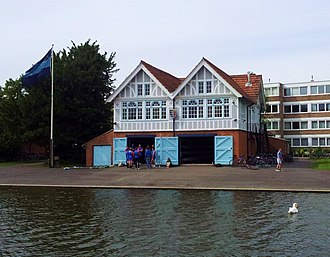 Darwin College Boat Club - Image: Cambridge boathouses Pembroke (2)