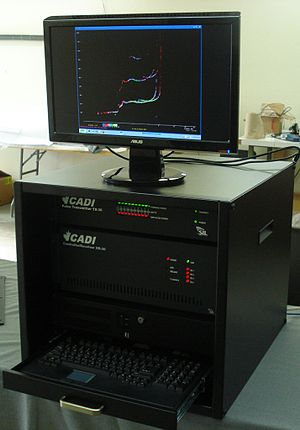 Ionosonde - An example of an ionosonde system displaying an ionogram