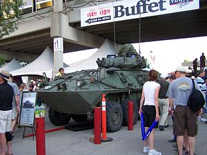 Coyote Reconnaissance Vehicle - Canadian light armoured vehicle at the Calgary Stampede