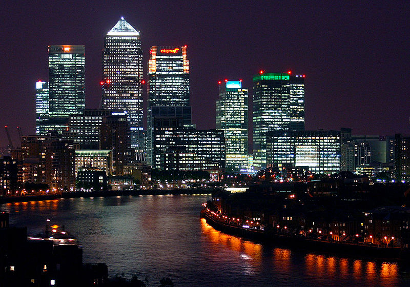 File:Canary Wharf at night, from Shadwell cropped.jpg