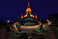 Candle Light Vesak day ceremony at Wat Yai Chaimongkhol Temple, Ayudtaya, Thailand.jpg