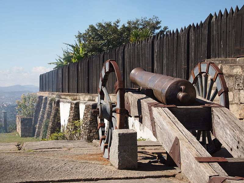 Cannon outside wall of Rova of Antananarivo in Madagascar.JPG