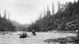 Michipicoten River - Canoeing above Michipicoten High Falls, 1897