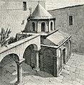 Canosa di Puglia mausoleo di Boemondo accanto al lato meridionale della cattedrale xilografia di Barberis 1898.jpg