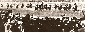 Carbine (horse) - Carbine winning the Melbourne Cup.