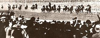 Carbine (horse) - Carbine winning the Melbourne Cup.