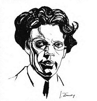 Giovanni Papini - Drawing of Papini, by Julius Zirinsky.