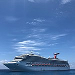 Carnival Conquest Anchored Near Half Moon Cay On June 23 2018.jpg