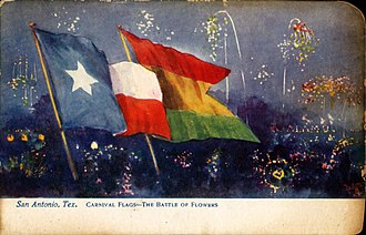 Fiesta San Antonio - Image: Carnival Flags The Battle of Flowers