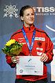 Carolin Golubytskyi podium 2013 Fencing WCH FFS-IN t204555.jpg