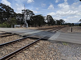 Carrick, New South Wales - Level crossing on Main Southern Line