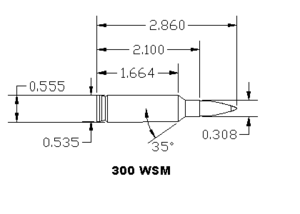 .300 Winchester Short Magnum - Measured Drawing, 300 WSM