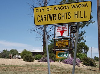 Cartwrights Hill, New South Wales - Signage relating to the suburb of Cartwrights Hill