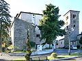 Casa torre, campanile di S.Francesco e Monumento a don Morosini e ai caduti WW2 - panoramio.jpg