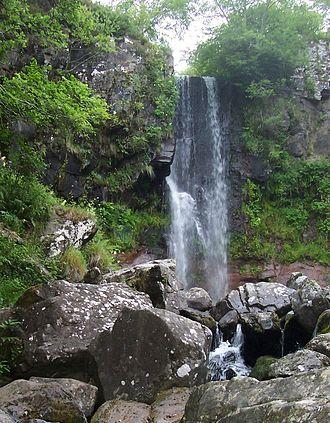 Brezons - Saut de la truite waterfall