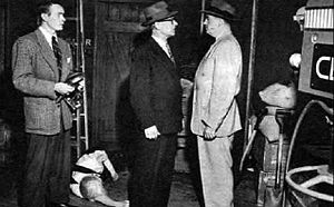 Casey, Crime Photographer - 1951 photo from the television series (McGavin to left)