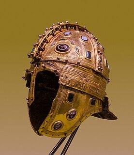 Late Roman ridge helmet