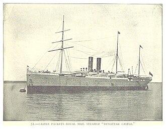 RMS Dunottar Castle - Dunottar Castle, from an 1893 book