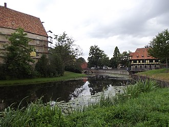 Moat - A medieval moat castle in Steinfurt, Germany