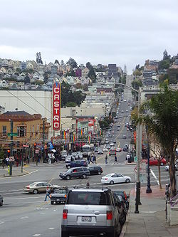 Castro Street and its namesake neighborhood, the Castro