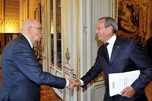 Italiano: Il Presidente della Repubblica Giorg...