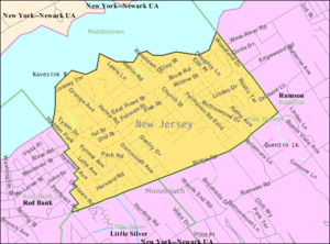 Fair Haven, New Jersey - Image: Census Bureau map of Fair Haven, New Jersey