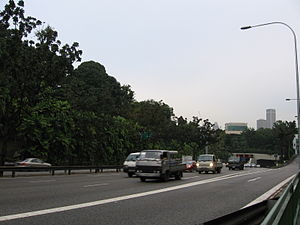 Central Expressway, Singapore - Central Expressway, near the Cavenagh Road exit.