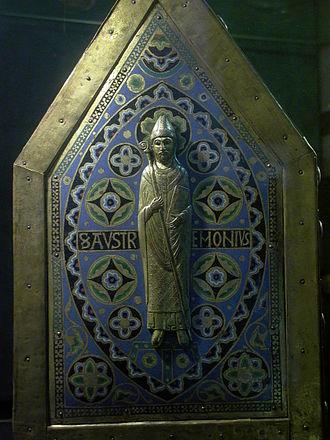 Abbey of Saint-Pierre Mozac - Saint Austremonius, as depicted on the enamelled reliquary of Saint Calmin