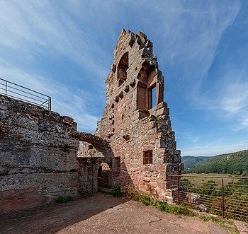 Palas, Fleckenstein castle near Lembach, Bas-Rhin department, France