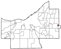 Location of Chagrin Falls Township in Cuyahoga County