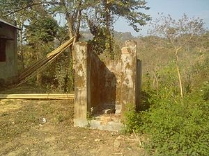 Dhalai district - Situation of toilet built for Anganwadi in Chand Kumar para of Kathalbari in Ambassa block, Dhalai district, Tripura
