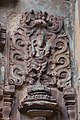 Chandramouleshwar Temple, Minutely carved idol of god in Chalukya style on the outer walls of the temple.jpg
