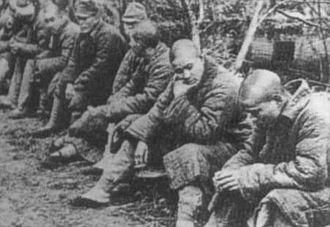 Battle of Changde - Japanese prisoners taken at Changde.