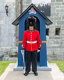 Changing the Guard ceremony in Québec during the summer 11.jpg