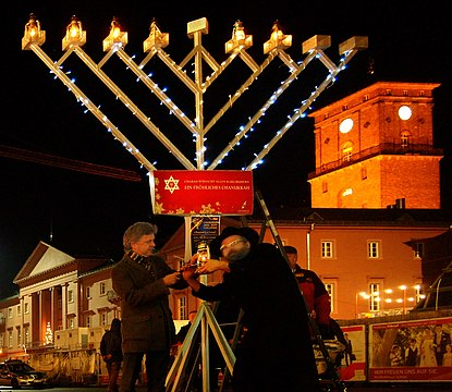 Public menorah on the Marktplatz