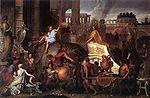 Entrée d Alexandre le Grand dans Babylone  , par Charles Le Brun