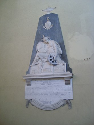 John Bacon (sculptor) - Monument to Charles Roe in Christ Church, Macclesfield
