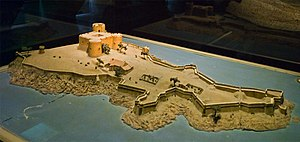 Château d'If - 1681 scale model of the château d'If