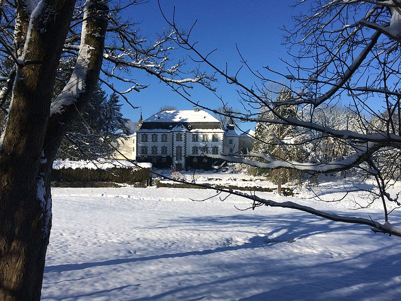 Chateau de Steinbach winter view Park