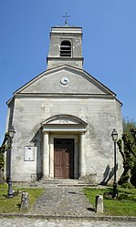 The church in Châtenay-en-France