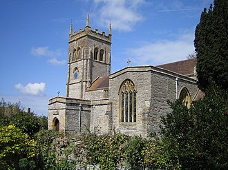 St Mary's Church, Chedzoy - Image: Chedzoy Church geograph.org.uk 153750