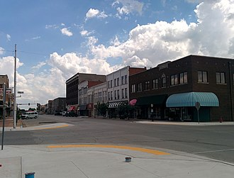 National Register of Historic Places listings in Grady County, Oklahoma - Image: Chickasha Downtown Historic District