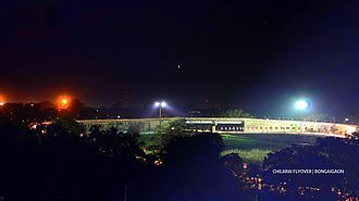 Bongaigaon - Night view of Bir Chilarai Flyover