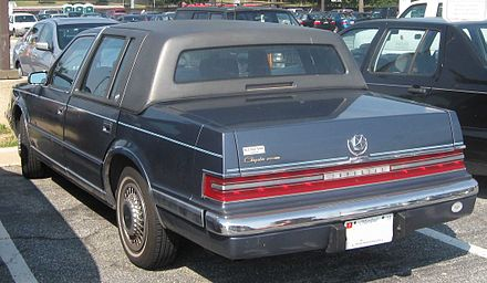 The 1990s Chrysler Imperial featured full-width taillights Chrysler Imperial rear.jpg