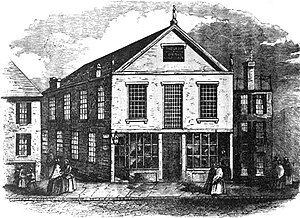 """Twelfth Baptist Church, Boston - """"Church of the Fugitive Slaves in Boston,"""" from Anthony Burns: A History by Charles E. Stevens, 1856."""