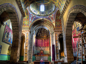 Armenian architecture - The interior of the Armenian Cathedral in L'viv, which is largely the work of Jan Henryk De Rosen and Józef Mehoffer.