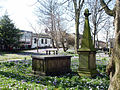 Churchyard monuments, St Chad's Church, Poulton-le-Fylde.jpg